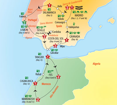 Detailed Map Of Spain Portugal And Morocco.Spain Reiterates Support For Political Solution To W Sahara Issue