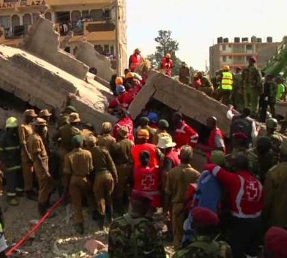 1 killed, 6 rescued as building collapses