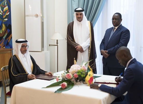 Senegal qatar signs mou to cement ties african bulletin qatars emir sheikh tamim bin hamad al thani and his host macky sall oversaw signing of a series memorandums of understanding mou between the two m4hsunfo